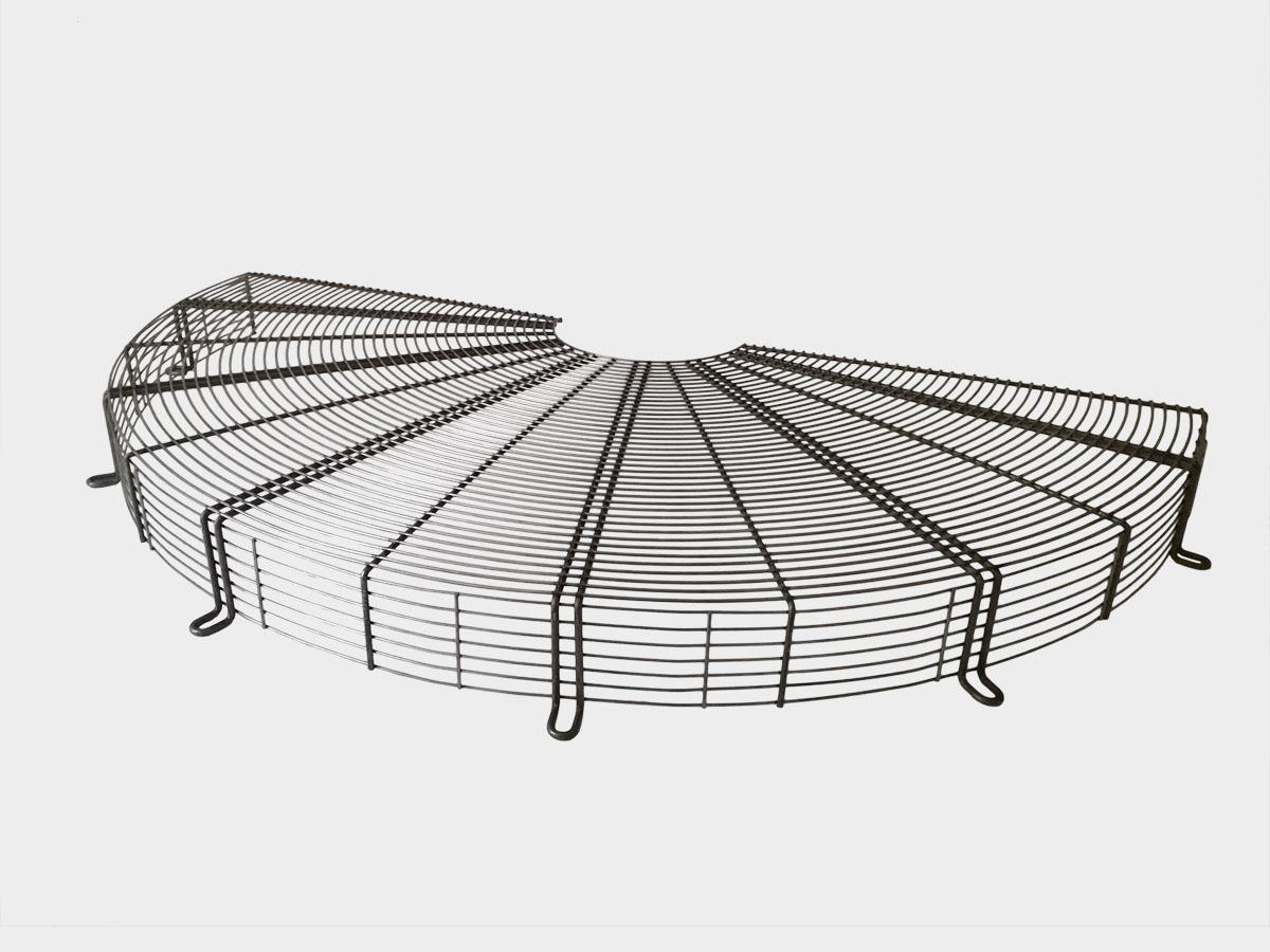 Semi-griglia rialzata per ventilatori